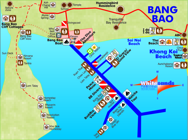 Bang Bao Map Koh Chang Guide