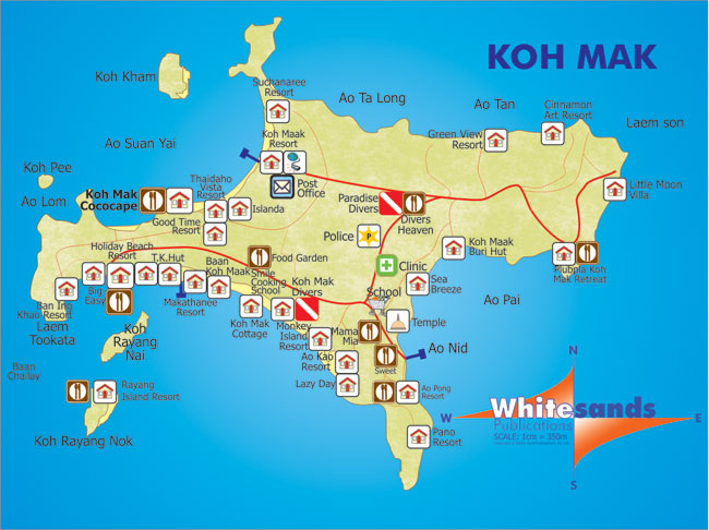 KohMakMap48 Koh Chang Guide