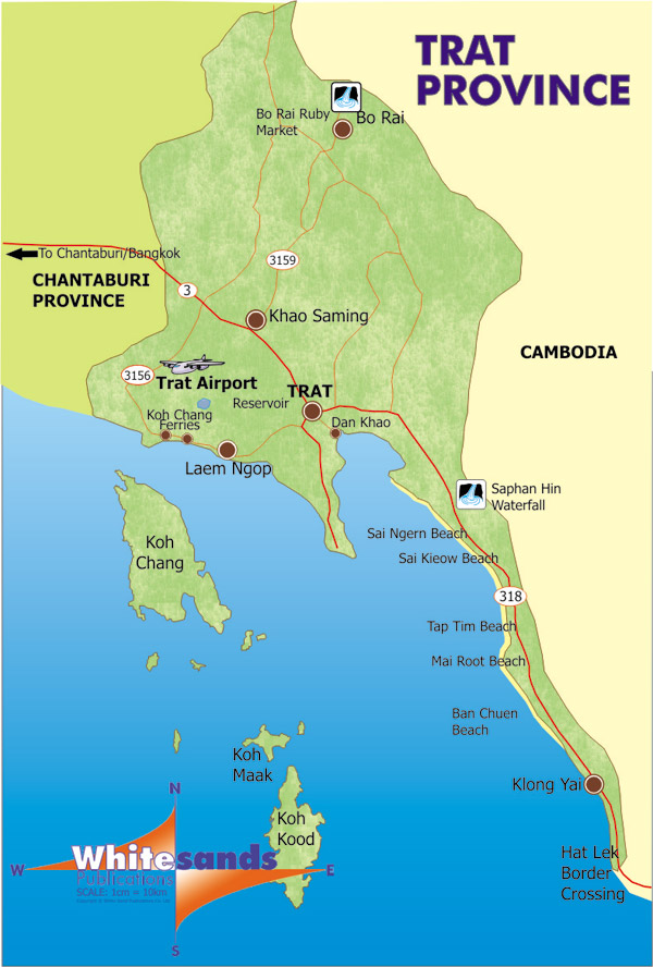 Trat Thailand  City pictures : Home / Koh Chang Maps / Trat Province Map