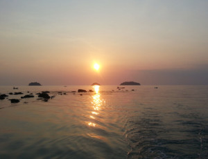 sunset at kai bae on koh chang
