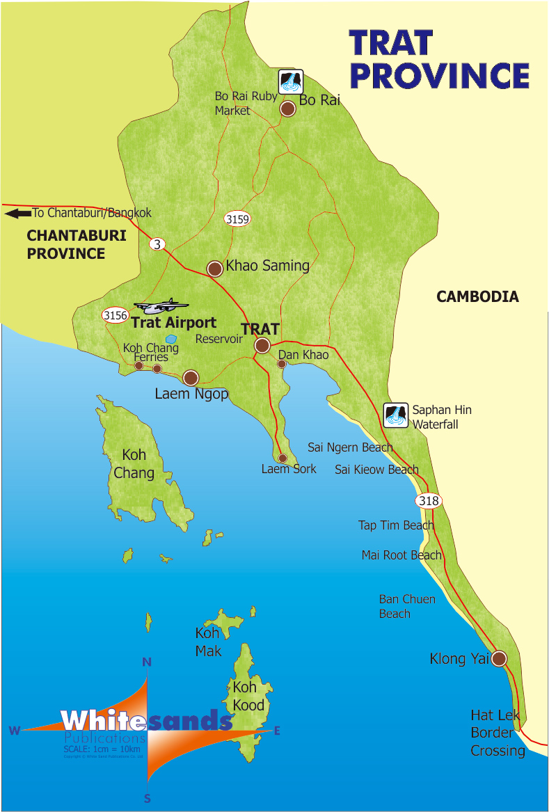 Koh Chang Thailand  city photo : Trat Province Map April 2015 Koh Chang Guide