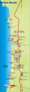 map of bailan beach koh chang