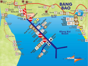 map of bang bao and klong khoi koh chang