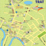map of trat town thailand