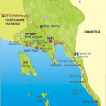map of trat province thailand