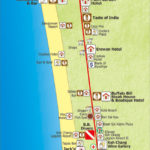 map of north white sand beach koh chang