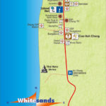 map of white sand beach koh chang south side