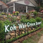 koh wai green resort sign