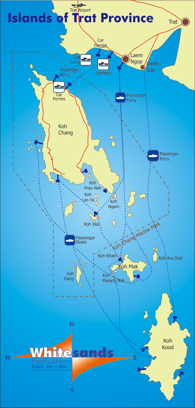 trat province islands map