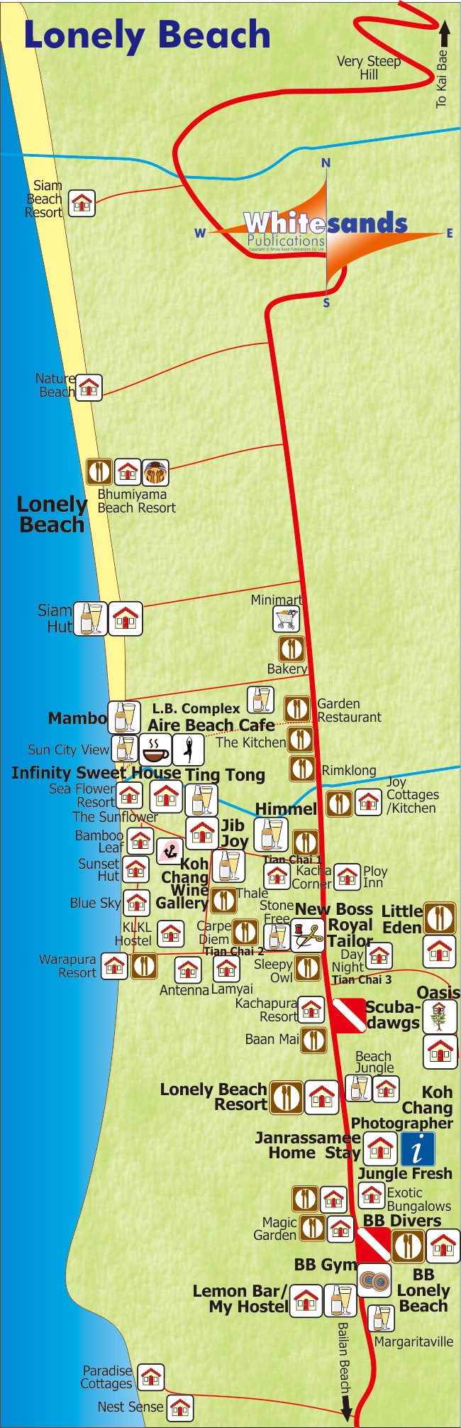 lonely beach koh chang map