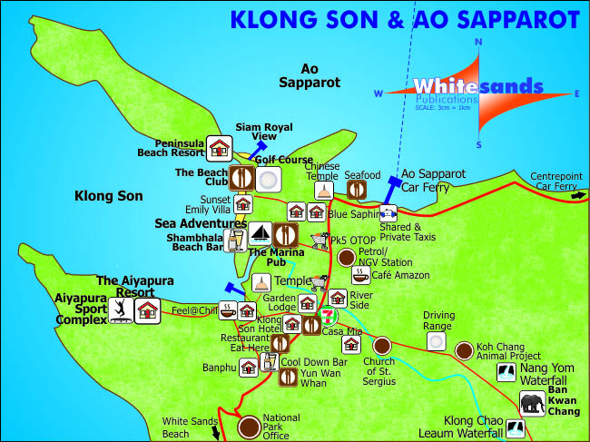 Koh Chang Maps Beach Maps and More Koh Chang Guide