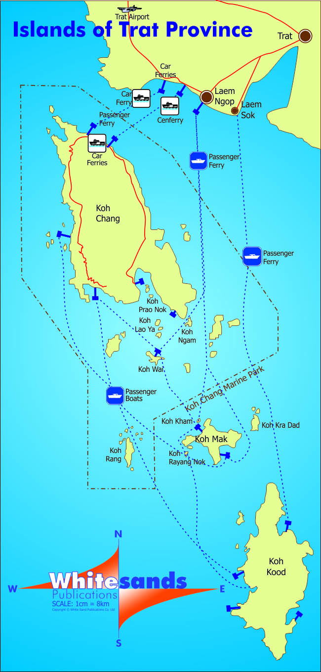 koh chang islands map